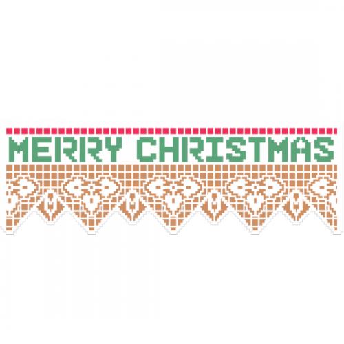 Stencil Renda Merry Christmas