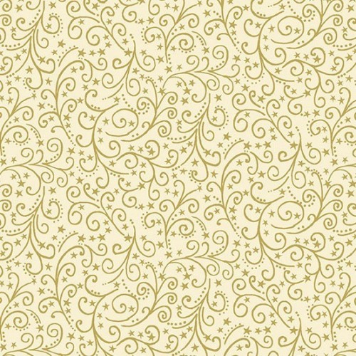 Gold Scroll Cream