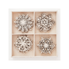 Wooden Shapes Snowflakes