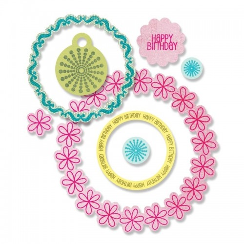 Sizzix Framelits w/Stamps - Circles & Tags