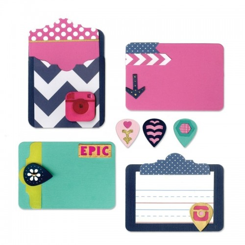 Sizzix Thinlits - Pocket Card & Geo Tags
