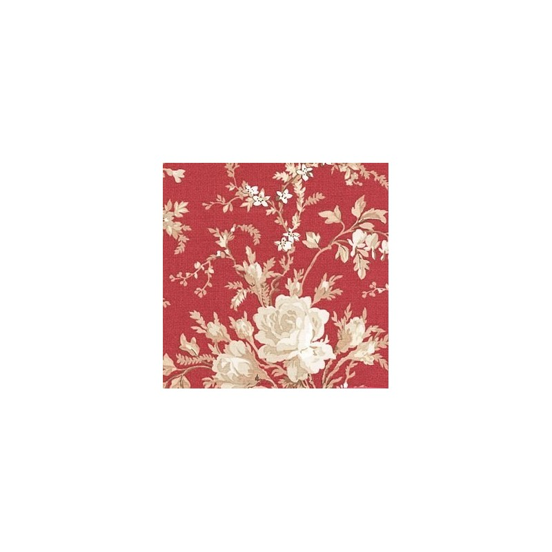 Floral Yardage Red