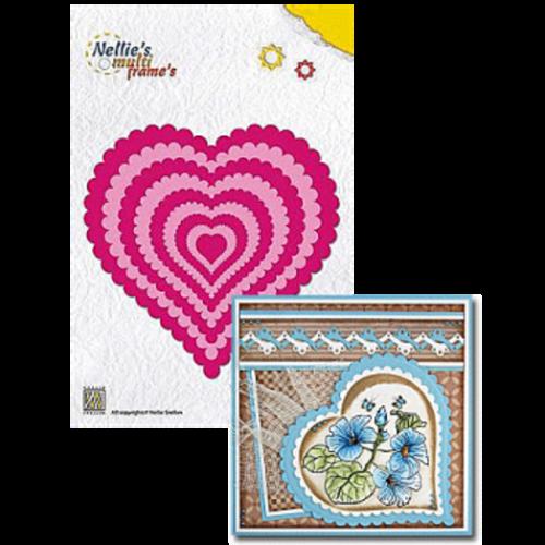 Nellies Wavy Heart 9 peças