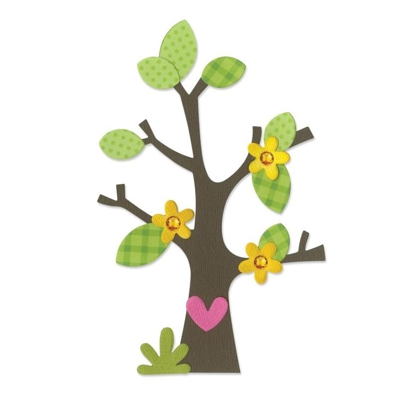 Sizzix - Tree Flower Heart & Leaves