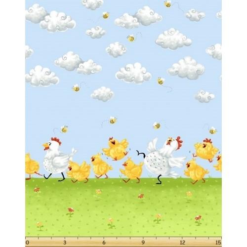 Chickens Border Print