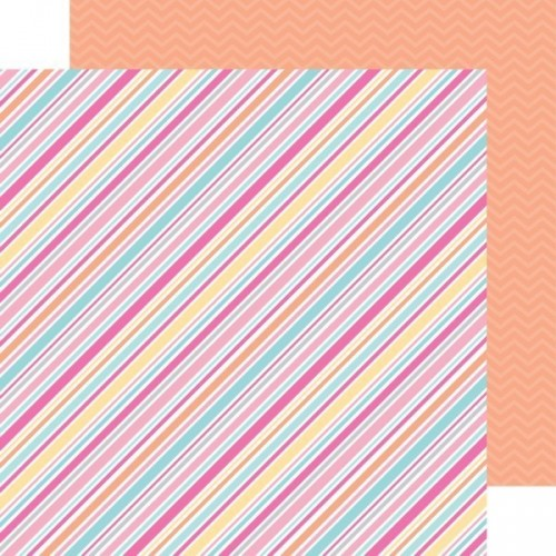 Papel Scrap Sorbet Stripe