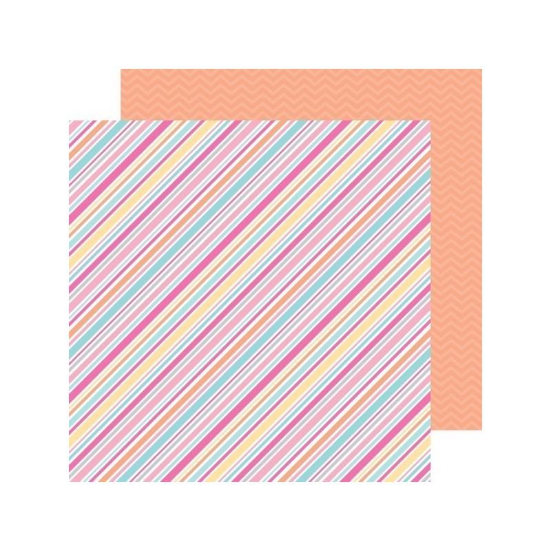 Papel Scrap Sorbet Stripe
