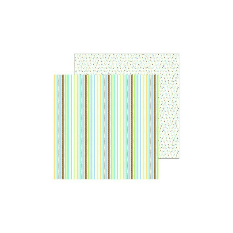 Papel Scrap Nursery Stripe
