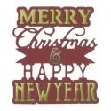 Sizzix - Phrase, Merry Christmas