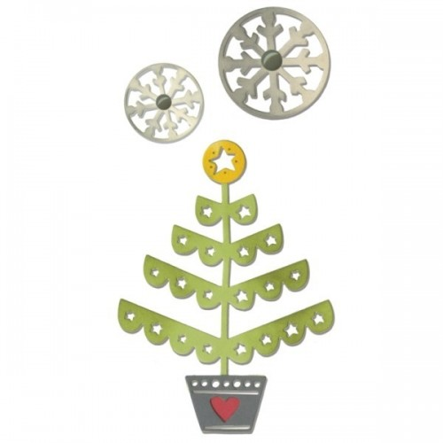 Sizzix - Christmas Tree & Snowflakes