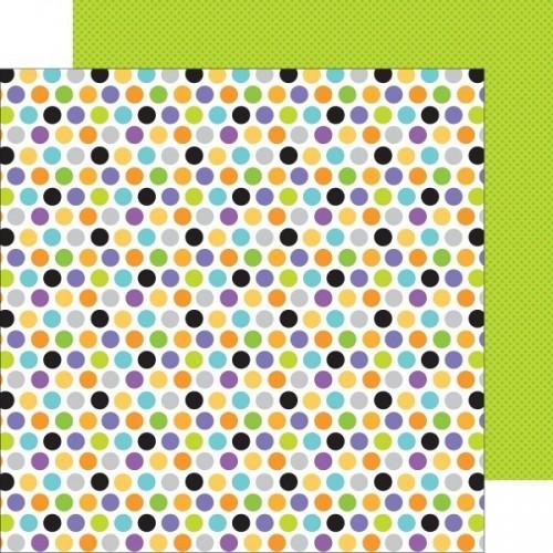 Papel Scrap Trick or Treat Dots