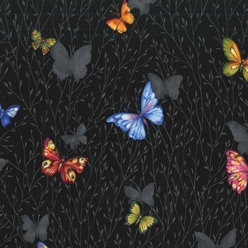 Butterfly Garden Black