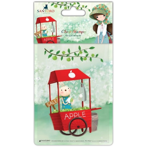 Stamp-An Apple Day - Cart