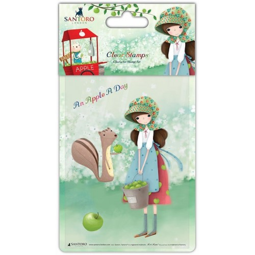 Stamp-An Apple Day - Girl