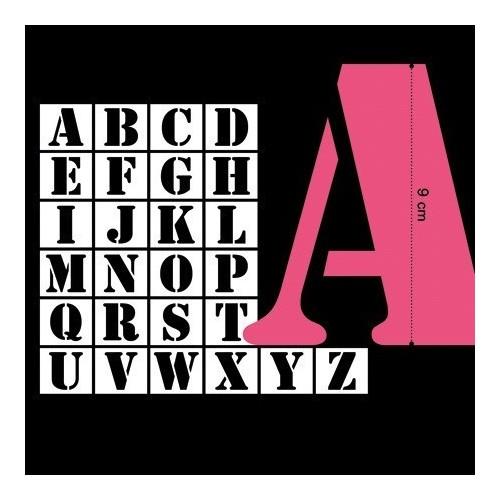 Stencil 26 Letras 5cm