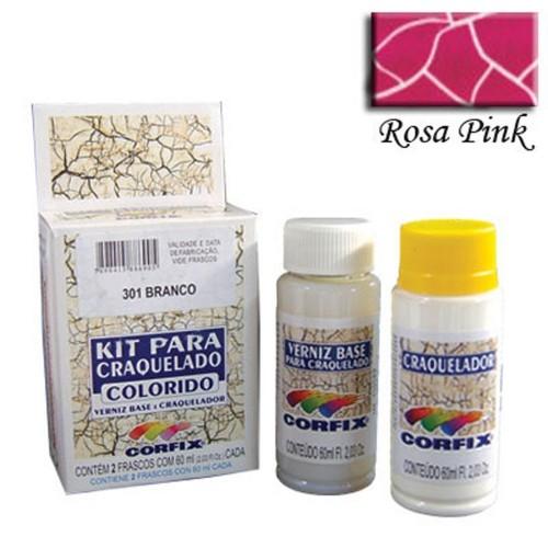 Kit Craquelador Rosa Pink 60ml