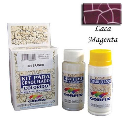 Kit Craquelador Laca Magenta 60ml