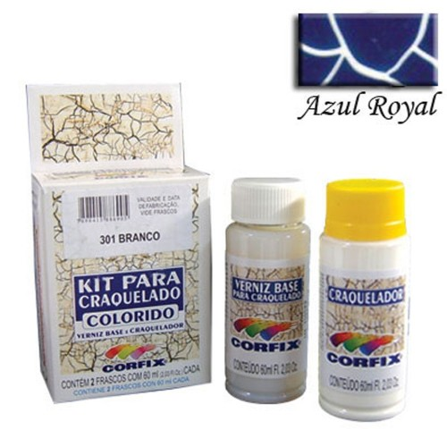 Kit Craquelador Azul Royal 60ml