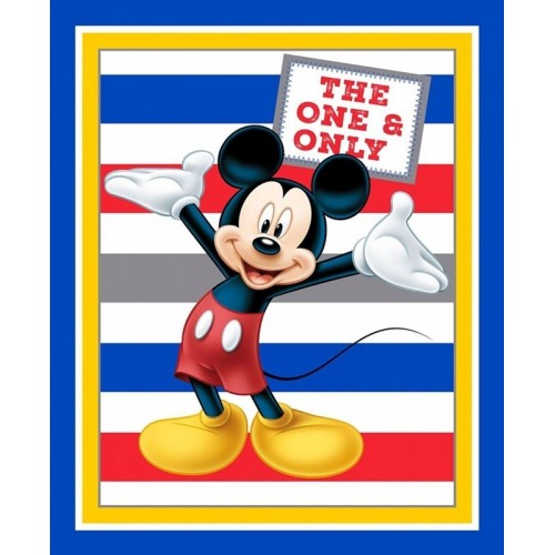 Mickey Panel With Stripes