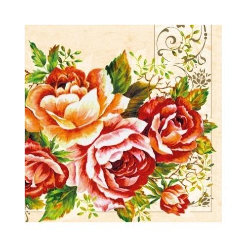 Guardanapo Roses in Frame