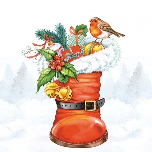 Guardanapo Christmas Boot