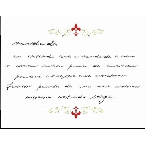 Stencil Poema Saudade 20x25