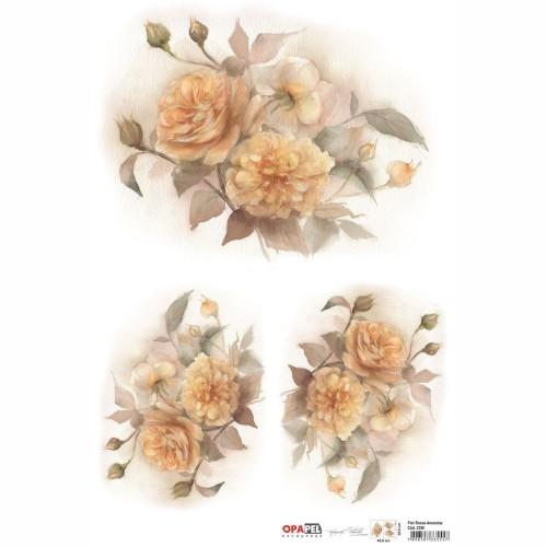 Opapel Flor Rosas Amarelas